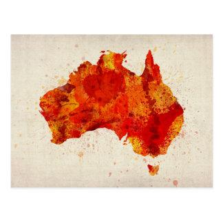 Australien-Aquarell-Karten-Kunst-Druck Postkarte