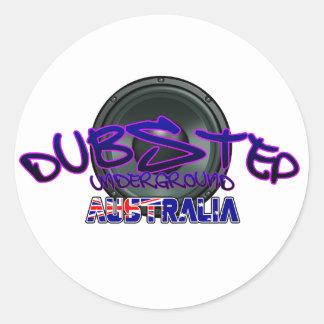 Australien australisches DUBSTEP Runder Sticker
