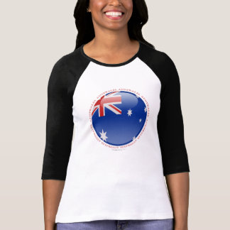 Australien-Blasen-Flagge T Shirts