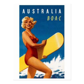 Australien - BOAC Postkarte