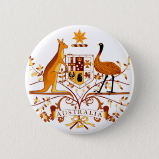 Australien COA Brown Runder Button 5,1 Cm