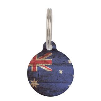 Australien-Flagge auf altem hölzernem Korn Tiermarke