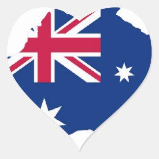 Australien Flagge Australia Style Design Herz-Aufkleber
