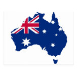 Australien Flagge Australia Style Design Postkarte