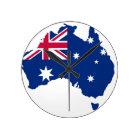 Australien Flagge Australia Style Design Runde Wanduhr