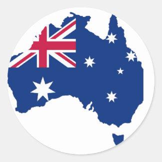 Australien Flagge Australia Style Design Runder Aufkleber