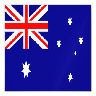 Australien-Flagge Magnetische Karte
