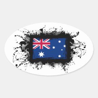 Australien-Flagge Ovaler Aufkleber