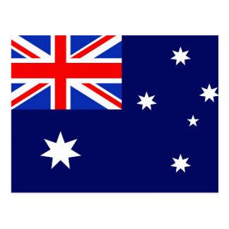 Australien-Flagge Postkarte