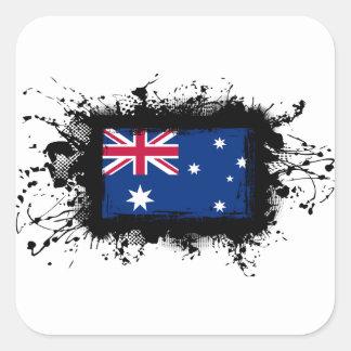 Australien-Flagge Quadratischer Aufkleber