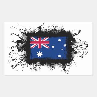 Australien-Flagge Rechteckiger Aufkleber