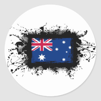 Australien-Flagge Runder Aufkleber
