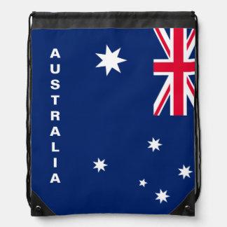 Australien-Flaggedrawstring-Rucksack Turnbeutel