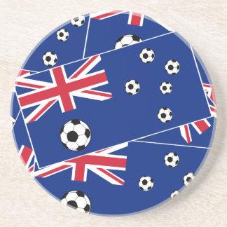 Australien-Flaggen-Fußball-Fußball Sandstein Untersetzer