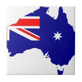 Australien-Flaggen-Karte Keramikfliese