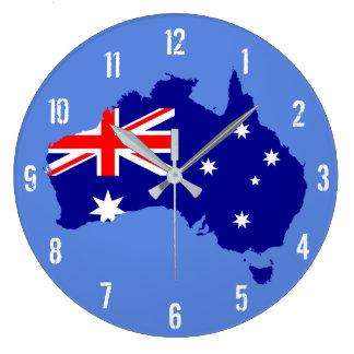 Australien-Flaggen-Karten-Wanduhr Große Wanduhr
