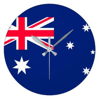 Australien-Flaggenbild für Rund-Groß-Wand-Uhr Große Wanduhr
