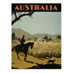 Australien in der Vintagen Reise Sun Postkarten