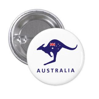 AUSTRALIEN-KÄNGURU-FLAGGE RUNDER BUTTON 3,2 CM