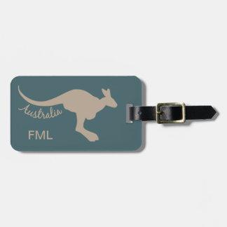 Australien-Kängurugewohnheits-Gepäckanhänger Gepäckanhänger