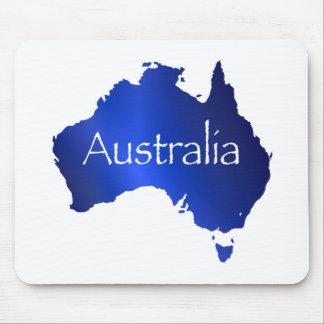 Australien-Karte mit weißem Hintergrund Mauspads