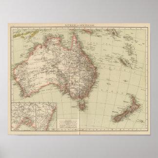Australien, Neuseeland Poster