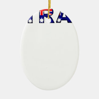 Australien Ovales Keramik Ornament