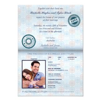 Australien-Pass-(übertragen) Hochzeits-Einladung Karte