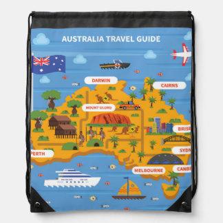 Australien-Reise-Führer-Plakat Sportbeutel