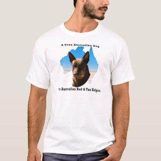 Australien-Rot und TANKelpie mit Karte T-Shirt