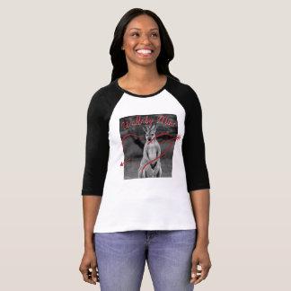 Australien-Shirt Wallaby-Bergwerk-Herzvalentines T-Shirt