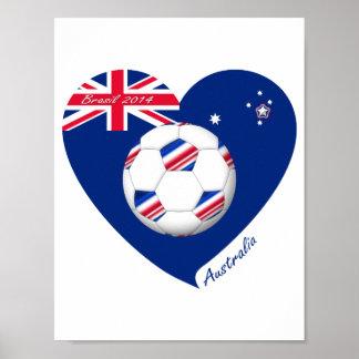 """""""AUSTRALIEN"""" Soccer Team. Fußball von Australia. Poster"""