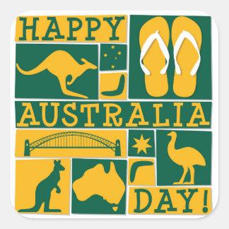 Australien-Tag Quadratischer Aufkleber