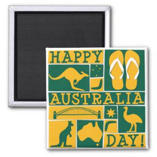 Australien-Tag Quadratischer Magnet