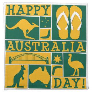 Australien-Tag Serviette