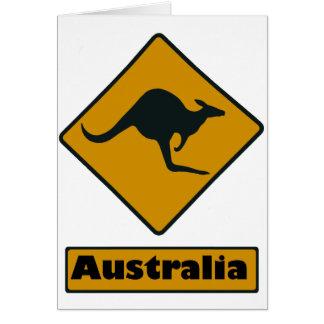 Australien-Verkehrsschild - Känguru-Überfahrt Karte
