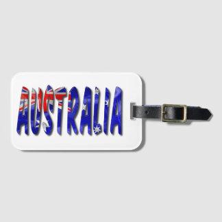 Australien-Wort mit Kofferanhänger