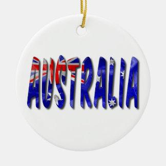 Australien-Wort mit Rundes Keramik Ornament