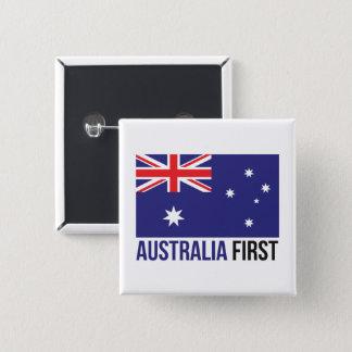 Australiens australische australische Flagge MAGA Quadratischer Button 5,1 Cm