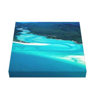 Australiens Whitehaven Strand-Hügel-Einlass Leinwanddruck