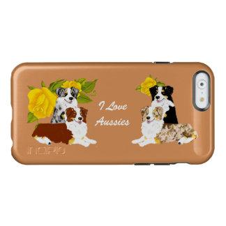 Australier Shepherds w/Yellow Rose iPhone 6 Fall Incipio Feather® Shine iPhone 6 Hülle