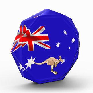 Australische Flagge Acryl Auszeichnung
