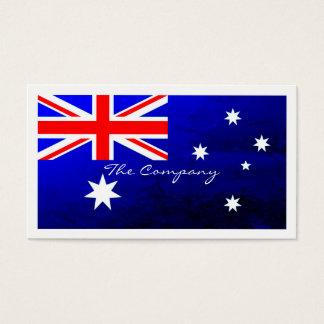 Australische Flagge, Australien Visitenkarte