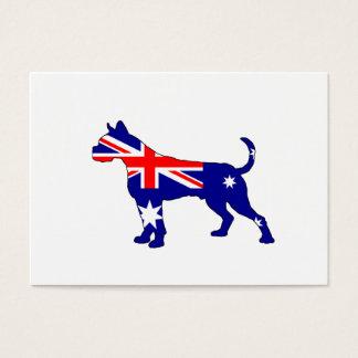 Australische Flagge - Boxer Visitenkarte