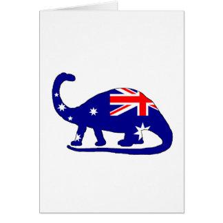 Australische Flagge - Brontosaurus Karte