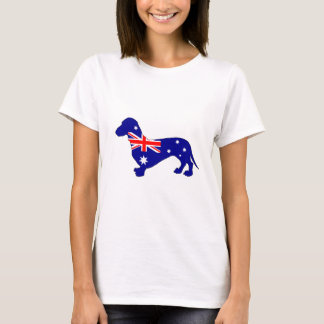 Australische Flagge - Dackel T-Shirt
