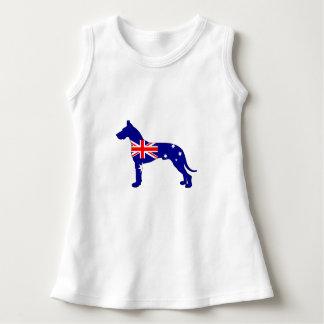 Australische Flagge - Deutsche Dogge Kleid