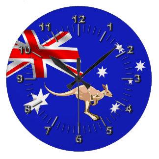 Australische Flagge Große Wanduhr
