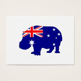 Australische Flagge - Hippopotamus Visitenkarte