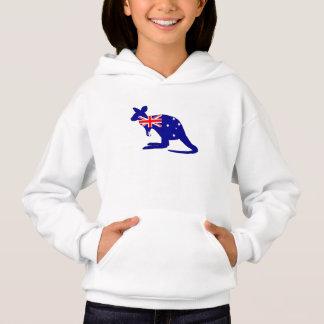 Australische Flagge - Känguru Hoodie